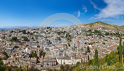 Panorama of Granada Spain