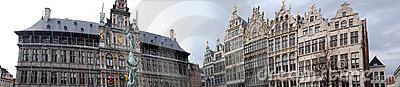 Panorama grand place Antwerp