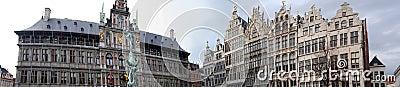 Panorama grand place Antwerp