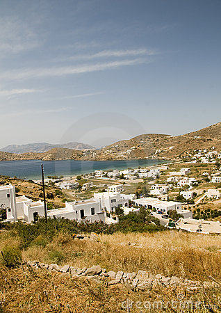 Panorama greek cyclades mediterranean island ios