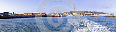 Panorama from Helgoland Germany Editorial Stock Image