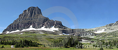 Panorama of The Hidden Lake Trail, Glacier N P