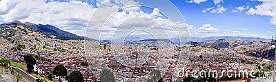 Panorama, historic downtown Quito, Ecuador