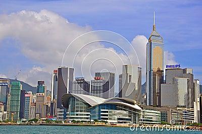 Panorama of Hong Kong city Editorial Stock Image