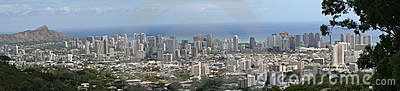 Panorama of Honolulu/Waikiki
