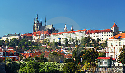 Panorama of Hradcany and Prague Castle