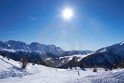 Panorama of Italian Dolomites