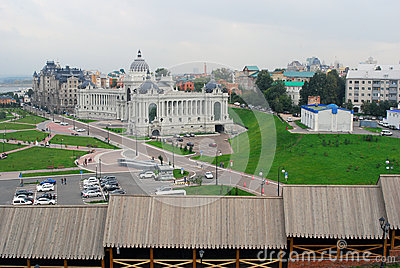 Panorama of Kazan city. Editorial Stock Image