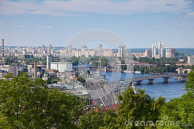 Panorama of Kiev, Ukraine.