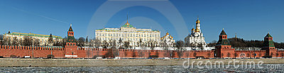 Panorama of the Kremlin wall