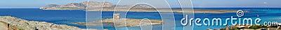 Panorama of La Pelosa beach in Sardinia - Italy