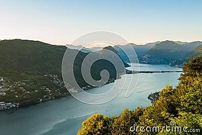 Panorama of Lago di Lugano