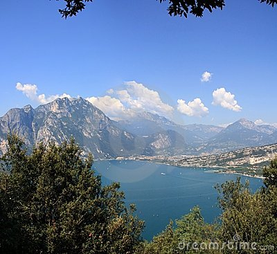 Panorama of  lake Garda