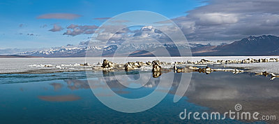 Panorama of Lake Manasarovar, Tibet