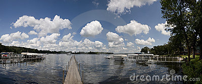 Panorama Of Lake Okoboji Stock Photo - Image: 15612440