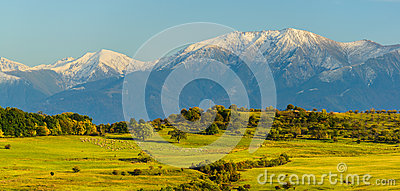Panorama landscape with mountains