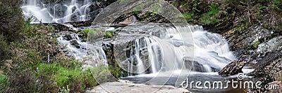 Panorama landscape waterfall detail