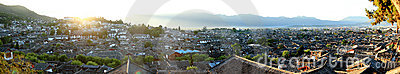 Panorama of Lijiang (the ancient city of China)
