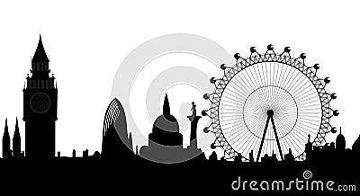 Panorama of London Editorial Photo