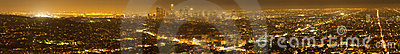 Panorama of Los Angeles Skyline