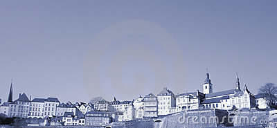Panorama of Luxembourg-City