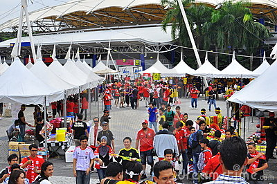 Panorama : Malaysia and Liverpool friendly match Editorial Stock Image