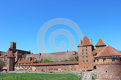 Panorama Malbork castle. Poland
