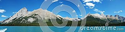 panorama of maligne lake