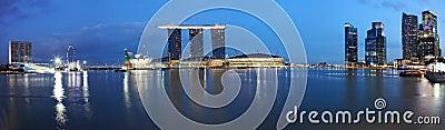 Panorama Of Marina Bay Sands,Singapore