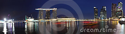 Panorama Of Marina Bay Sands,Singapore