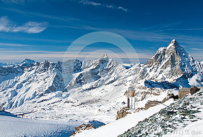 Panorama of the Matterhorn Glacier