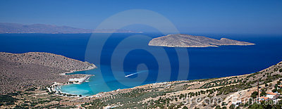 Panorama of Mediterranean shoreline