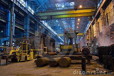 Panorama of metallurgy workshop
