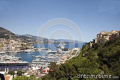 Panorama Monte Carlo harbor Monaco