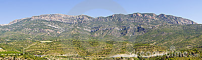 Panorama of the Montsec range in Catalonia