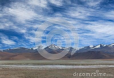 Panorama of mountain landsc in Ladakh, North India
