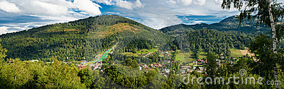 Panorama of an mountain village
