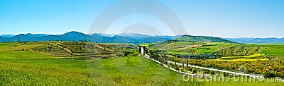 Panorama of the mountains of Cyprus