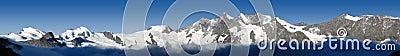 Panorama of mountains in Valais, Switzerland