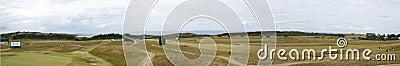 Panorama of Muirfield before 2013 British Open Editorial Image
