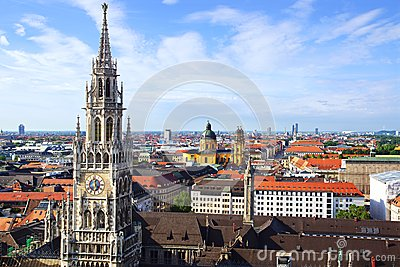 Panorama of Munich, Germany