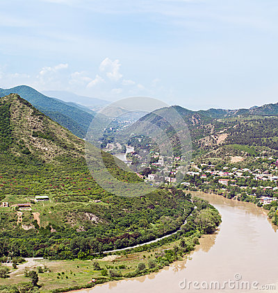 Panorama of  Narikala Fortress Tbilisi, Georgia
