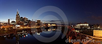 Panorama of Nashville at night