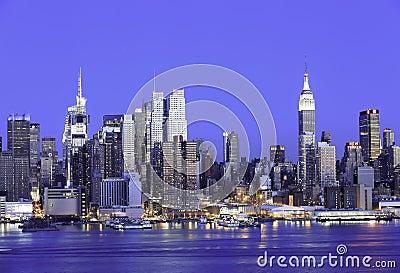 Empire State New York Manhattan Skyline Editorial Stock Image