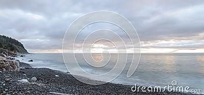 Panorama of ocean waves - Long exposure