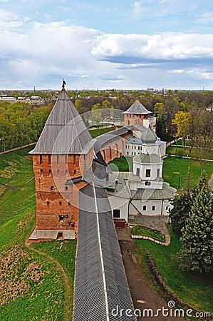 Free Panorama Of Novgorod Kremlin From  Height, Veliky Novgorod, Russia Royalty Free Stock Photography - 66535577