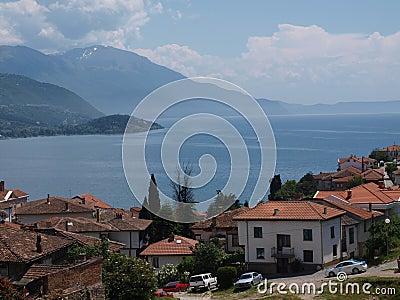 Panorama of Ohrid, Macedonia Editorial Photo