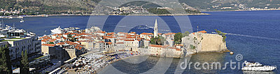 Panorama of old Budva