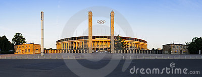 Panorama olympic stadium berlin Editorial Photo