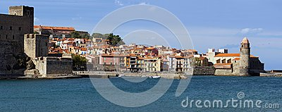 Panorama over Collioure in the Vermilion coast